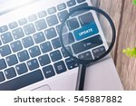 update word written on keyboard ... | Shutterstock . vector #545887882