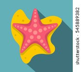 sea star icon. flat... | Shutterstock .eps vector #545889382