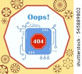 page with a 404 error. template ... | Shutterstock .eps vector #545889802