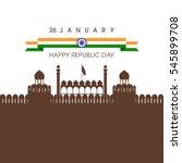 illustration of indian republic ... | Shutterstock .eps vector #545899708