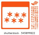 snowflakes calendar page... | Shutterstock .eps vector #545899822