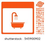 shower bath calendar page... | Shutterstock .eps vector #545900902