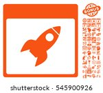rocket calendar page icon with... | Shutterstock .eps vector #545900926
