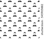 man in shirt avatar pattern.... | Shutterstock .eps vector #545905882