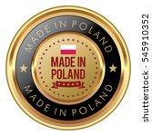 made in poland badge   Shutterstock .eps vector #545910352