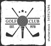 golf club concept with golf... | Shutterstock .eps vector #545917696