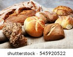 different kinds of bread rolls... | Shutterstock . vector #545920522