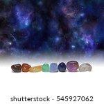 cosmic chakra healing stones  ... | Shutterstock . vector #545927062