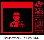 atomic engineer calendar page... | Shutterstock . vector #545928832