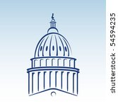 us capitol dome vector... | Shutterstock .eps vector #54594235