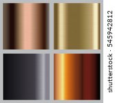 metallic backgrounds collection.... | Shutterstock .eps vector #545942812