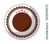 elegant circular frame icon... | Shutterstock .eps vector #545944072