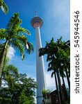 Small photo of KUALA LUMPUR, MALAYSIA - CIRCA 2013 - The Kuala Lumpur Tower circa 2013 in Kuala Lumpur. This tower is used for communication purposes and features an antenna that reaches over 400 metres.