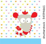 cute love seahorse | Shutterstock .eps vector #54594661