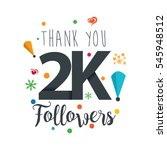 thank you design template for... | Shutterstock .eps vector #545948512