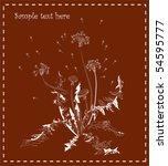 dandelion   Shutterstock .eps vector #54595777