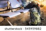 single traveler  backpacker... | Shutterstock . vector #545959882