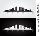 toronto skyline and landmarks...   Shutterstock .eps vector #545966266