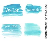 set of watercolor stains. spots ... | Shutterstock .eps vector #545966722
