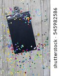 carnival confetti on wood... | Shutterstock . vector #545982586