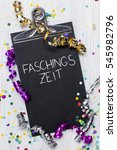 carnival confetti on wood... | Shutterstock . vector #545982796