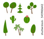 a set of green plant isolated... | Shutterstock .eps vector #545983642
