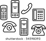 telephones  mobile phones    ... | Shutterstock .eps vector #54598393