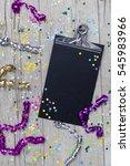 carnival confetti on wood... | Shutterstock . vector #545983966
