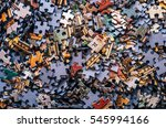 jigsaw puzzle color background | Shutterstock . vector #545994166