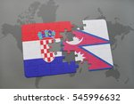 puzzle with the national flag... | Shutterstock . vector #545996632