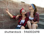 two girls are best friends and... | Shutterstock . vector #546002698