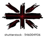 british flag for embroidery and ... | Shutterstock .eps vector #546004936