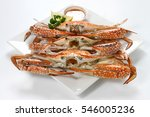 grilled blue swimmer crab ... | Shutterstock . vector #546005236