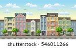 seamless cityscape cartoon... | Shutterstock .eps vector #546011266