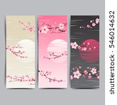 cherry blossom realistic vector ... | Shutterstock .eps vector #546014632