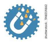 inbound marketing design with... | Shutterstock .eps vector #546014662
