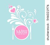 restaurant menu card design.... | Shutterstock .eps vector #546021976