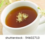 white cup with lime tea and... | Shutterstock . vector #54602713