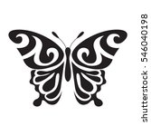 Stock vector graphic icon of butterfly butterfly tattoo isolated on white background vector 546040198