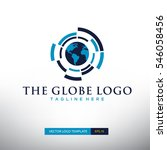 globe logo vector template in... | Shutterstock .eps vector #546058456