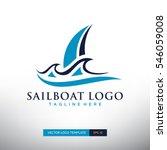 sailboat logo template. vector... | Shutterstock .eps vector #546059008