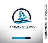 sailboat logo template. vector... | Shutterstock .eps vector #546059062