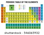 periodic table of the elements... | Shutterstock .eps vector #546065932