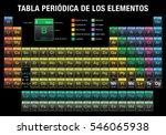 tabla periodica de los... | Shutterstock .eps vector #546065938