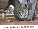 low section of male mechanic... | Shutterstock . vector #546072736