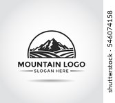 mountain and agriculture logo... | Shutterstock .eps vector #546074158