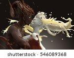 coffee and milk lovers. 3d...   Shutterstock . vector #546089368