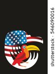 american flag graphic design... | Shutterstock .eps vector #546090016