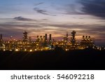 Sunset over a gas plant just outside of Port Moresby, Papua New Guinea