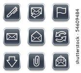 e mail web icons  grey square...